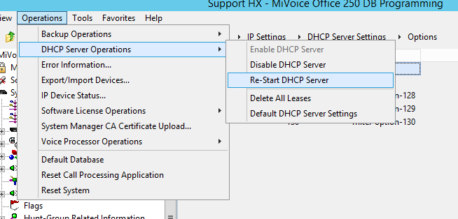 MiVoice Office 250 DHCP Configuration